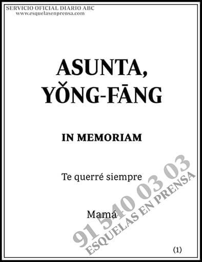 Asunta, Yong-Fang